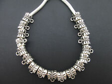 Fashion Tibetan Silver Connectors Big Hole Spacer Beads For Charms Jewelry DIY
