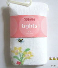 Gymboree Wish You Were Here Yellow White Flower Bee Tights 6 9 12 2-2T-3-3T NWT