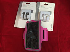 HOT PINK GYM RUNNING ARMBAND POUCH OEM HEADPHONE MIC FOR SAMSUNG GALAXY S4 S3 S2