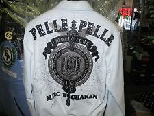 MENS Pelle Pelle LIMITED EDITION Leather JACKET- White  Size 48 Leather 3XL