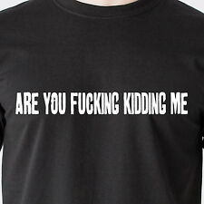 are you f*cking kidding me. wife sex fight beer drunk police retro Funny T-Shirt