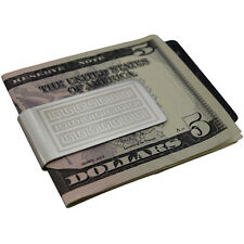 Mens Aztec Money Clip - Silver Stainless Steel - Cash Wallet