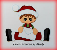 Craftecafe Mindy letters to santa boy premade paper piecing for scrapbook page