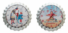 Retro Vintage Round Wall Clock Chic Funny 1950s Housewife Shabby 26cm Gift New
