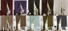 Faux Silk Luxury Ready Made Curtains Full Lined Tape Top Pencil Pleat Tie Backs