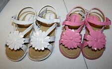 NEW Toddler Girls Koala Kids Dressy Sandals with flowers in Pink or white