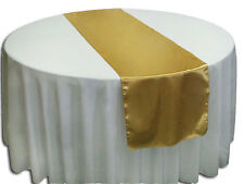 "25 Tissue Lame Table Runners 14""x108"" Metalic Gold or Silver Wedding Event Party"