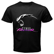 New THE STEEL PANTHER Rock Band *Panther Logo Men's Black T-Shirt Size S to 3XL