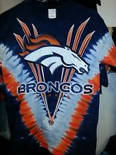 DENVER BRONCOS  Tie Dye V Dye T-Shirt  LICENSED NFL TEAM APPAREL