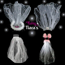 BRIDE TO BE VEIL Hen Night Party Accessories inc.Flashing Bride to Be Tiara Veil