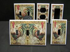 FRENCH ROOSTER KITCHEN DECOR LIGHT SWITCH OR OUTLET COVER V540