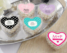 Personalized Heart Container Anniversary Birthday Bridal Wedding Favor
