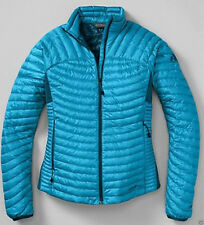 New Eddie Bauer First Ascent Women's Microtherm Down Shirt Glacier Blue NWT
