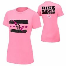 WWE Authentic CM PUNK Rise Above Cancer Pink Womens T-Shirt - BRAND NEW