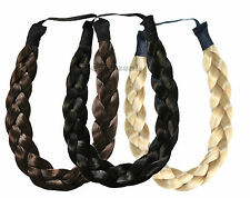 HAIRPIECE CHUNKY PLAITED HEADBAND BRAIDED HAIR PIECE THICK PLAIT 14 COLOURS