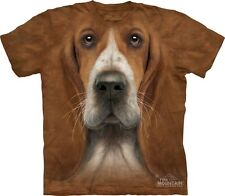 Big Face Basset Hound T-Shirt from The Mountain Company Dog Head Tees S-3XL NEW