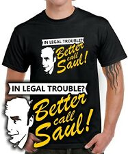 Fun T-SHIRT BETTER CALL SAUL |  breaking meth pinkman * BAD Mr. White * goodman