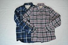 Rare mens new threads for thought flannel shirt fleece lined super soft button