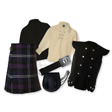 KIDS' KILT PACKAGE - 'CHIEFTAIN' 7PC OUTFIT - HERITAGE SCOTLAND - SIZE OPTIONS!