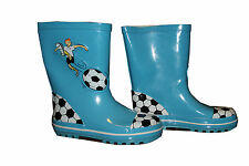 NEW Boys Kids Printed Blue Football Player Casual Wellies Shoes Size 1 to 13