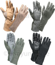 Military Sheepskin Leather Flame & Heat Resistant Fireproof Flight Gloves