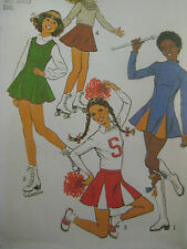 Vintage Simplicity CHEERLEADER COSTUME Sewing Pattern BATON TWIRLER Ice Skating