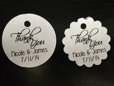 PERSONALIZED Round Wedding Favor Gift Tags Thank You Buy 2 Get 1 Free