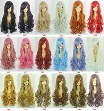 New Adult Heat Resistant 80cm Long Big Wavy Curly Cosplay Full Wig 18 Colors