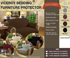 Luxury Quilted CREAM SOFA / SETTEE Furniture Chair Protector Cover THROW