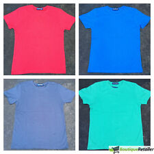 KIDS Plain T Shirt 100% COTTON Girls Boys Childrens Quality Short Sleeve 8-16