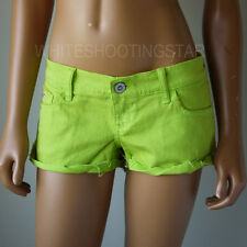 NWT HOLLISTER HCO WOMENS LIME SEAGULL LOW RISE JEANS SHORT-SHORTS