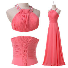 New Halter Prom Party Dress for Bridal Cocktail Gown Ball Evening Size 2 to 16