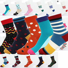 Lot Mens Womens Designer Fashion Dress Socks New Stripe Argyle Color Size 5-9