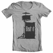 Drummer T Shirts BEAT IT DRUMLINE Musician Band Music Sizes i prefer the drummer