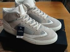Topman White Double Layered Hi Top Boots size US 8,10,11