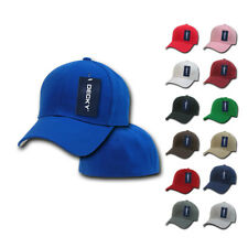 1 DOZEN DECKY Plain Fitted Curved Bill Baseball Hats Hat Caps Cap Wholesale Lot