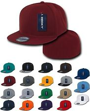 1 Dozen Retro Fitted Flat Bill Baseball Hats Hat Caps Cap Decky Blank Wholesale