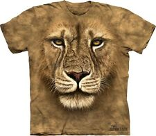 Big Face Lion Warrior T-Shirt by The Mountain Giant Head Zoo Animal  Sizes S-5XL