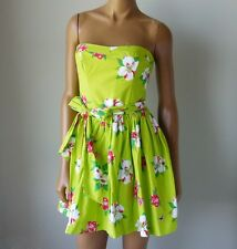 NWT HOLLISTER HCO WOMENS Light Green Floral Strapless Dress $59.50
