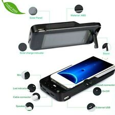 Hot IPhone 5s 5 Solar backup Battery Case Charger 3000mAh Travel Kickstand bank