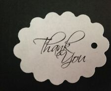 Scalloped Oval Wedding Bridal Shower Thank You Favor Tags Buy 2 Get 1 Free