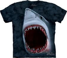Shark Bite T-Shirt by The Mountain. Big Face Shark Attack Jaws Teeth S-5XL NEW