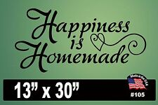 "#105 Wall Decal ~ HAPPINESS IS HOMEMADE - 13"" x 30"""