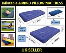 Kingfisher Inflatable Double Flocked Camping Airbed Comfort Air Pillow Mattress