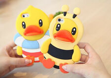 3D Cartoon Cute Baby Duck Silicone Rubber Skin Case Cover For iPhone 5 5S