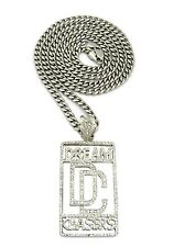 """NEW DREAM CHASER DC PENDANT 6mm/36"""" STAINLESS STEEL CUBAN CHAIN NECKLACE RC169"""