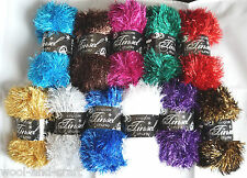 "KING COLE TINSEL CHUNKY GLITTER KNITTING YARN WOOL 50G + ""FREE SCARF PATTERN"""