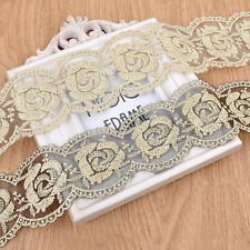 7cm Lace Fabric Trim Rose Flower Trim Bridal Wedding Lace Accessories 1Yard z18