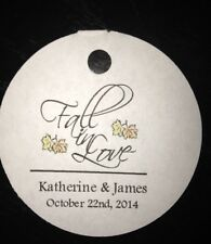 PERSONALIZED Round Wedding Favor Gift Thank You Tags Fall In Love  Buy 2 Get 1