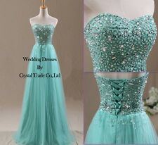New Beading Formal Bridesmaid Dresses Party Evening Prom Dresses Ball Gown 6-16
